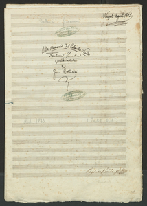 Alla memoria del Colon[n]ello Nullo | Fantasia Funebre | a grande Orchestra | di | Gio. Bottesini