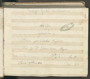 Nell'Elisa | Sinfonia | Ridotta per Cembalo Pianoforte | Del Sig.r D. Giovan Simone Mayer