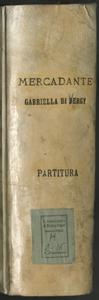 Gabriella di Vergy | musica del | M.o Saverio Mercadante