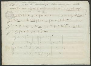 Basso di Mattei da trascriversi liberamente per tutta   orchestra come Saggi di strumentazione a porte chiuse
