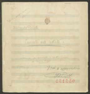 Ildebrando Pizzetti | Concerto dell'Estate | riduzione per piranoforte a quattro mani | di Mario Pilati