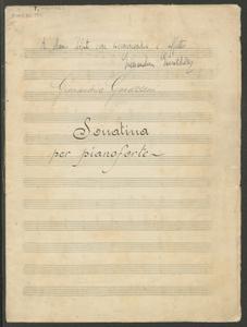 Gianandrea Gavazzeni | Sonatina | per pianoforte