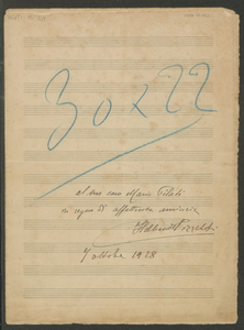 San Basilio | dai canti popolari del popolo greco | (Trad. Tommaseo) | musica di Ildebrando da Parma | Pizzetti