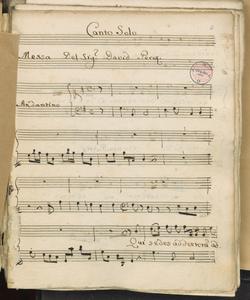 Canto Solo | Messa Del Sig.r Davide Perez