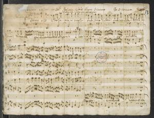 1701 Cantata a 7 Voci con Istr.ti Idolatria. CrudeltA . Furore. S. Gennaro. Per San Gennaro   Religione. Costanza. Fortezza
