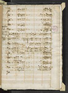 Magnificat   a 8.   con 5. Istr:ti   8bre 1699