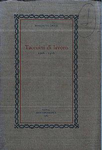 Taccuini di Lavoro (1906-19161)