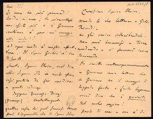 Lettere autografe di Luigi Illica a Giacomo Puccini