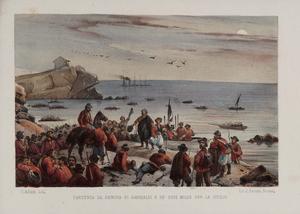 Partenza da Genova di Garibaldi...