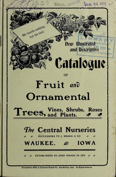 Image from object titled New illustrated and descriptive catalogue of fruit and ornamental trees, vines, shrubs, roses and plants /