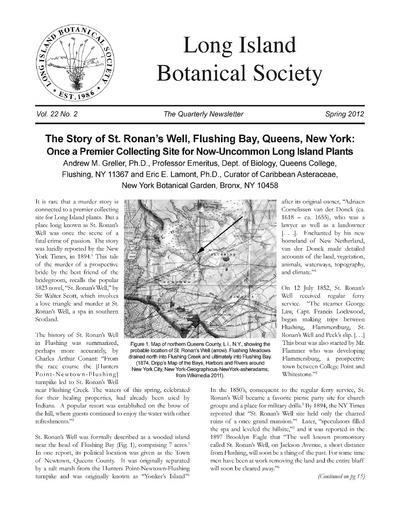 Long Island Botanical Society Newsletter Europeana Collections