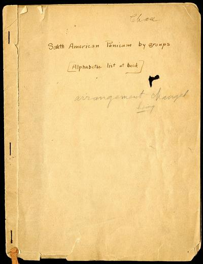 Mary Agnes Chase correspondence and notes documenting her research on grasses in Brazil and Puerto Rico, c. 1924-1941, contains a copy of the itinerary of Carl von Martius's 1817-1820 exploring trip to Brazil. (Accession...