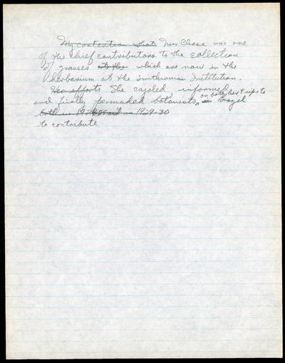 Mary Agnes Chase letters to Albert Spear Hitchcock, written in Brazil