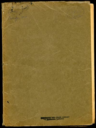 Mary Agnes Chase notes, 1922 trip; Chase Europe 1922