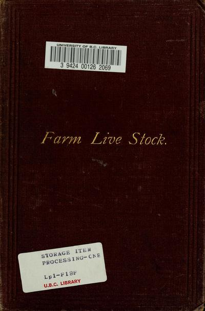 Farm live stock of Great Britain. By Robert Wallace ...
