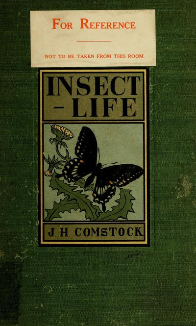 Image from object titled Insect life; an introduction to nature-study and a guide for teachers, students, and others interested in out-of-door life, by John Henry Comstock with full-page plates from life reproducing insects in natural colors, and with many original illustrations engraved by Anna Botsford Comstock , [Ed. in colors]