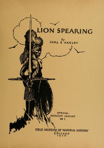 Lion spearing, by Carl E. Akeley ...