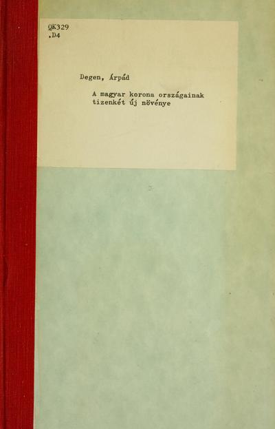Image from object titled A Magyar korona országainak tizenkét új növénye. Zwölf neue Pflanzen der Länder der ungarischen Krone.