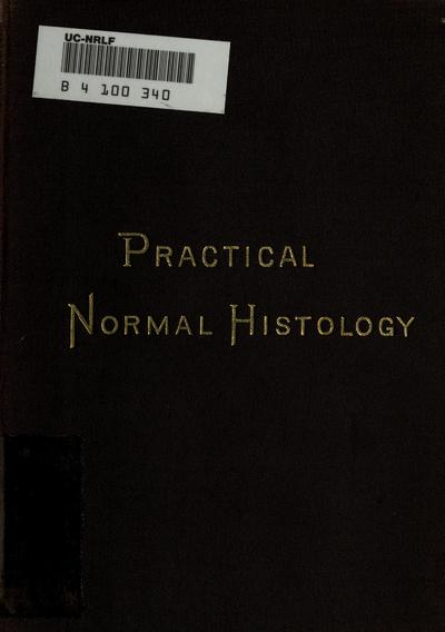 A manual of practical normal histology / by T. Mitchell Prudden
