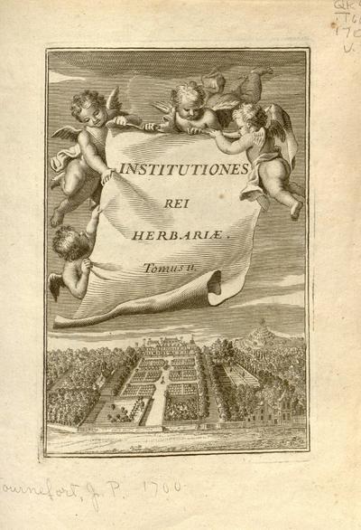 Josephi Pitton Tournefort ... Institutiones rei herbariæ.