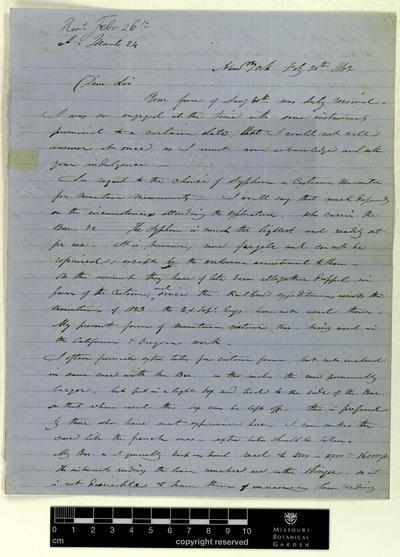 Correspondence : Green (James) and Engelmann (George), 1862-1864.