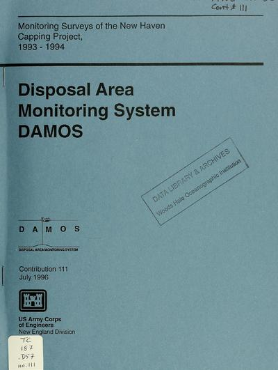 Monitoring surveys of the New Haven capping project, 1993-1994 /