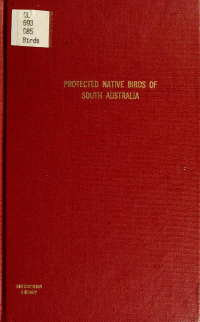 Protected native birds of South Australia /