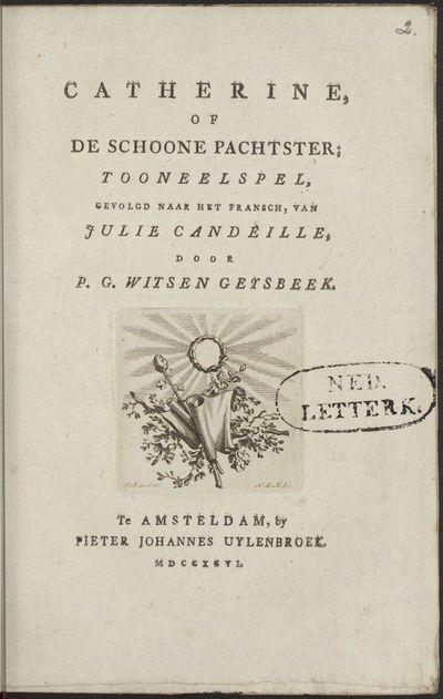 Catherine, of De schoone pachtster; tooneelspel.
