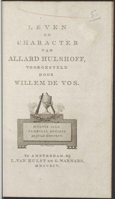 Leven en character van Allard Hulshoff.