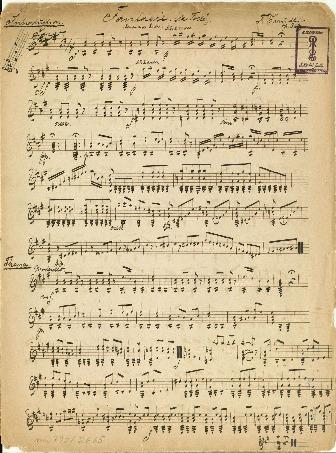"""Fantasie (""""la Folle""""). (Romance de Grisar). Sur 2 cordes. op. 363"""