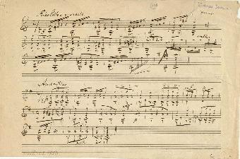 [2 kompositioner for guitar]: Risoluto e marcato. [a-mol]. (Andantino [e-mol])