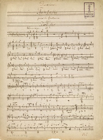 Deuxième Fantasie pour la Guitarre par Ferd. Sor. Op. 4