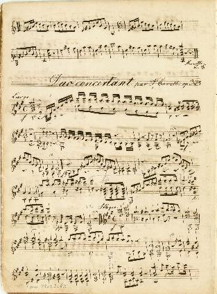 Duo concertant par F. Carulli op. 328; Duetti per 2 Chitarre