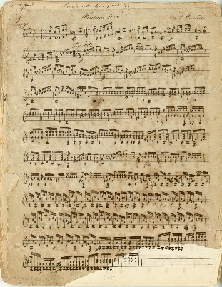 Image from object titled Fantasie 1ma par F. Carulli; Kompositioner for en og to guitarer