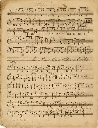 Marche tirée de l'opera d'Aline de Berton; Kompositioner for en og to guitarer