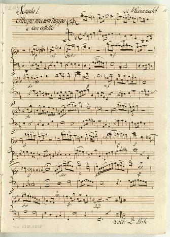 Sonata 1.[-5.] Di Kleinknecht [d,D,D,G,G]