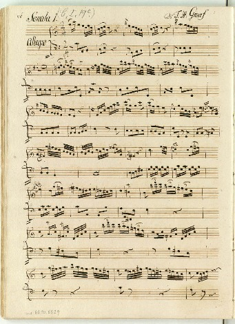 Sonata 1.[-3] Di F: H: Graaf [C,e,D]