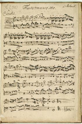 Sonata Flauto traverso solo di Mahaut [G]