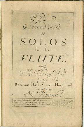 A ¤second set of solos for the flute with a through bass for the bassoon, bass-flute or harpiscord