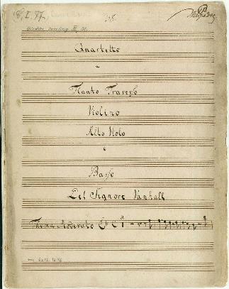 Quartetto a Flauto Traverso/Violino/Alto Viola e Basso. Del Signore Vanhall... [F]
