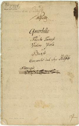 Quartetto a Flauto Traverso/Violino/Viola et Basso/Composta dal Sigr. Klöffler