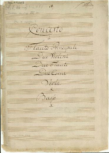 Concerto à Flauto Principale, Due Violini, Due Flauti, Due Corni, Viola & Basso... [D]