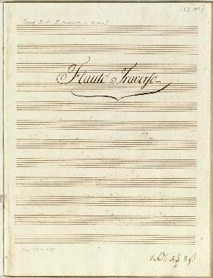 II. Concerto. â Flauto Travso: Violino 1mo: è 2do: Corno 1mo: è 2do: Viola. è Basso Composta dal Sigr F. H. Graaf...[G]