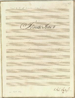 III. Concerto. â Flauto Traverso/Violino imo: è 2do: Corno imo: è 2do: Viola. è Basso Composta dal Sigr Fr. H. Graaf...[F]