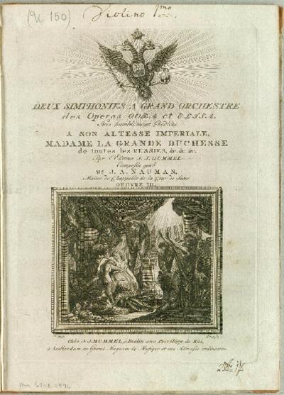 Deux simphonies a grand orchestre des operas Cora et Elisa... : Oeuvre III.