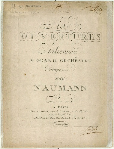 Six ouvertures italiennes a grand orchêstre : (Sinfonia I-VI).