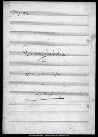 La viola y la dalia (Faula). Chor a veus mixtes per G. Capell; Viola i la dàlia, La / Hivern, L'