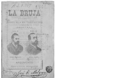 La Bruja : zarzuela en tres actos : en prosa y en verso original