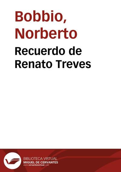 Recuerdo de Renato Treves