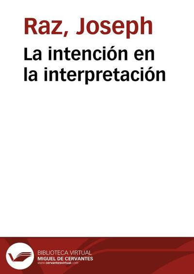 La intención en la interpretación